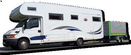 Wohnmobil mit Anhänger - Klasse C1E
